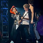 NLD/Utrecht/20100903 - Premiere Queen musical We Will Rock You, Pia Douwes, Queen gitarist Brian May en John Vooijs