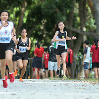 Bedok Reservoir Park, Wednesday, March 22, 2017 — Nan Hua High School stormed to its very first National Schools Cross Country Championship, beating more fancied names to the B Division girls title.<br /> <br /> Nan Hua's four fastest B Division female runners finished in the individual top 10, led by Clarice Lau who finished second, 31 seconds behind Elizabeth Liau of CHIJ St Nicholas Girls' School, who stopped the clock at 15 minutes 9 seconds for the 3.8-kilometre route. This was Elizabeth's second-straight individual cross country victory, having topped C girls last year. https://www.redsports.sg/2017/03/23/national-cross-country-championships-girls-nan-hua/