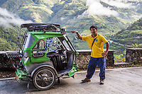 Philippines Tricycle, the local version of a tuk-tuk, is really just a motorbike hitched onto a sidecar for passengers. The motorbike can be detached for driving without passengers, cutting down on fuel consumption.