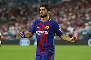 Barcelona Luis Suarez during the International Champions Cup match between Real Madrid and FC Barcelona at the Hard Rock Stadium, Miami on 29 July 2017.