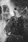 Gertraud Braun, nude by the Waterfall, Austria, 1934