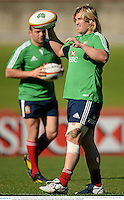 14 June 2013; Richard Hibbard and Rory Best, left, British & Irish Lions, during the captain's run ahead of their game against NSW Waratahs on Saturday. British & Irish Lions Tour 2013, Captain's Run, North Sydney Oval, Sydney, New South Wales, Australia. Picture credit: Stephen McCarthy / SPORTSFILE