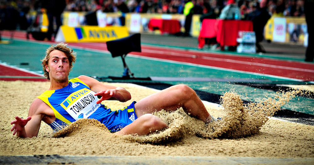 Great Britain's Tomilson competes in the men's long jump final