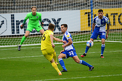 Indiana Vassilev of Burton Albion takes a shot at goal - Mandatory by-line: Dougie Allward/JMP - 17/10/2020 - FOOTBALL - Memorial Stadium - Bristol, England - Bristol Rovers v Burton Albion - Sky Bet League One