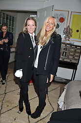 Left to right, ALICE NAYLOR-LEYLAND and EMMA PILKINGTON at a lunch hosted by Roger Vivier held at Bella Pollen's home, 5 Stanley Crescent , London on 29th January 2013.