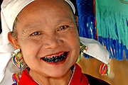 Old woman with Chiang Mai,  Thailand
