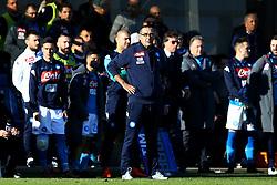 January 21, 2018 - Bergamo, Italy - Napoli trainer Maurizio Sarri  during the Italian Serie A football match Atalanta Vs Napoli on January 21, 2018 at the 'Atleti Azzurri d'Italia Stadium' in Bergamo. (Credit Image: © Matteo Ciambelli/NurPhoto via ZUMA Press)