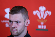 Dan Lydiate, the Wales rugby team captain speaks to the press during the Wales rugby team announcement press conference at the Vale Resort Hotel in Hensol, near Cardiff , South Wales on Thursday  16th November 2017.  the team are preparing for their Autumn International series match against Georgia this weekend.   pic by Andrew Orchard