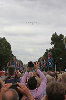 Hawk T1 & T2, RAF100 Parade and Flypast, The Mall & Buckingham Palace, London, UK, 10 July 2018, Photo by Richard Goldschmidt, Royal Air Force Centenary parade and flypast of RAF aircraft over London.