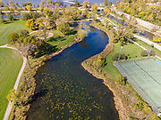 Aerial photograph of the Tenney Park, Madison, Wisconsin, USA.