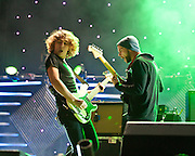 COLUMBIA, MD - October 6th, 2012 - Loïc Maurin and Anthony Gonzalez of M83 perform at the 2012 Virgin Mobile FreeFest in Columbia, MD. (Photo by Kyle Gustafson / For The Washington Post)
