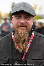 Kyle Rose of the Legends Motorcycle Museum on the Motorcycle Cannonball coast to coast vintage run. Stage 11 (248-miles) from Billings to Great Falls, MT. Tuesday September 18, 2018. Photography ©2018 Michael Lichter.