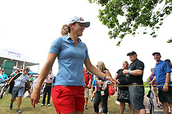 June 16, 2018 - Belmont, Michigan, United States - Celine Herbin of France walks off the 18th green during the third round of the Meijer LPGA Classic golf tournament at Blythefield Country Club in Belmont, MI, USA  Saturday, June 16, 2018. (Credit Image: © Jorge Lemus/NurPhoto via ZUMA Press)