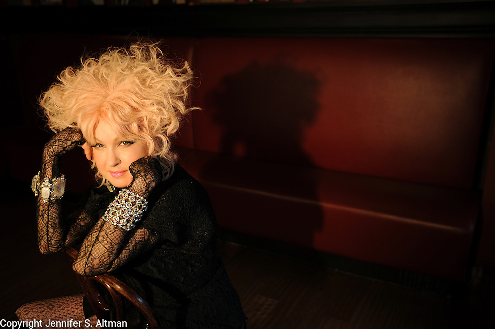 MANHATTAN, NEW YORK, MARCH 28, 2013 Singer, song writer, actress Cyndi Lauper is seen at Sardi's Restaurant in Manhattan, NY. Lauper, the 80's pop star, has written the music for the Broadway musical Kinky Boots, the book by Harvey Fiersten. 3/28/2013 Photo by Jennifer S. Altman/For The Times