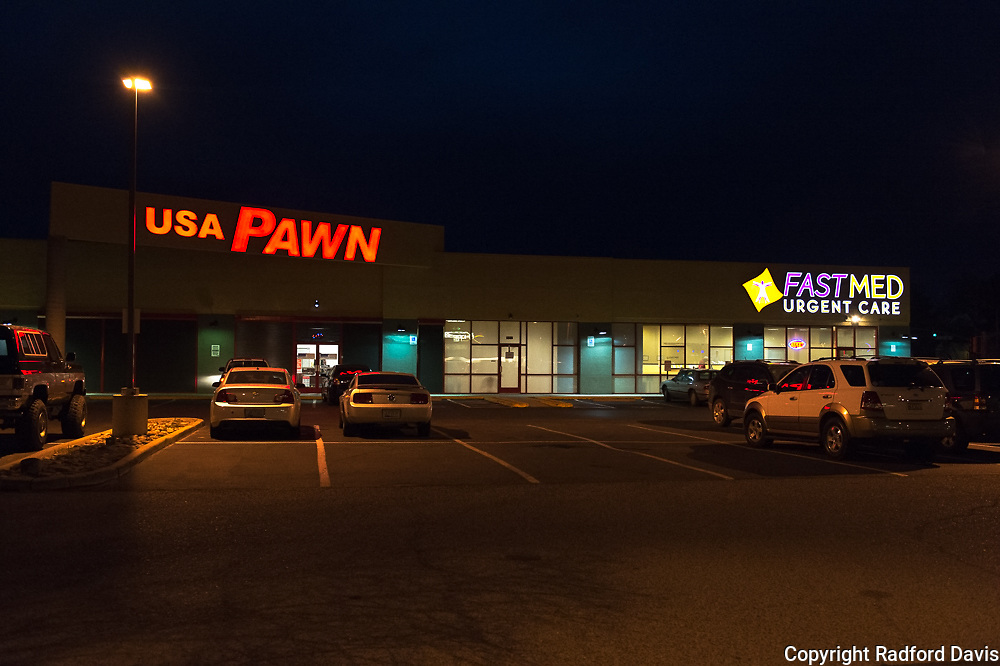 What does it say when a pawn shop is adjacent to a medical clinic?