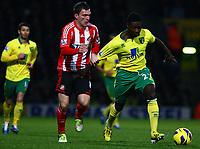 Football - Premier League - Norwich City vs. Sunderland<br /> <br /> <br /> Norwich City's Alexander Tettey in action against Craig Gardner of Sunderland at Carrow Road, Norwich