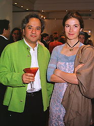 MR & MRS ANISH KAPOOR he is the sulptor at a party in London on 22nd June 1999.MTP 14