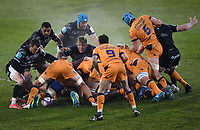Rugby Union - 2020 / 2021  European Rugby Challenge Cup - Semi-final - Bath vs Montpellier - Recreation Ground<br /> <br /> Teams battle at the breakdown as Josh McNally looks on.<br /> <br /> COLORSPORT/ASHLEY WESTERN