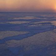 Evening sunset over Churchill, Manitoba. Canada.