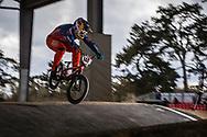 #148 (VAN GENDT Twan) NED at the 2018 UCI BMX Superscross World Cup in Saint-Quentin-En-Yvelines, France.