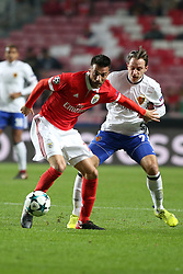 December 5, 2017 - Lisbon, Portugal - Benfica's Greek midfielder Andreas Samaris (L) fights for the ball with Basel's midfielder Luca Zuffi from Suisse during the UEFA Champions League Group A football match between SL Benfica and FC Basel at the Luz stadium in Lisbon, Portugal on December 5, 2017. (Credit Image: © Pedro Fiuza/NurPhoto via ZUMA Press)