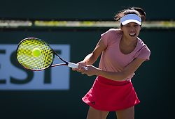 March 8, 2019 - Indian Wells, USA - Su-Wei Hsieh of Chinese Taipeh in action during her second-round match at the 2019 BNP Paribas Open WTA Premier Mandatory tennis tournament (Credit Image: © AFP7 via ZUMA Wire)
