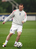 Photo: Chris Ratcliffe.<br />England Training Session. FIFA World Cup 2006. 28/06/2006.<br />Wayne Rooney in training.