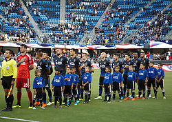 July 28, 2018 - San Jose, California, United States - San Jose, CA - Saturday July 28, 2018: San Jose Earthquakes  during a Major League Soccer (MLS) match between the San Jose Earthquakes and Real Salt Lake at Avaya Stadium. (Credit Image: © Andrew Villa/ISIPhotos via ZUMA Wire)