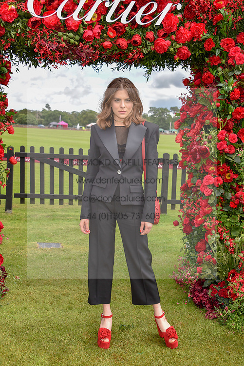 Morgane Polanski at the Cartier Queen's Cup Polo 2019 held at Guards Polo Club, Windsor, Berkshire. UK 16 June 2019 - <br /> <br /> Photo by Dominic O'Neill/Desmond O'Neill Features Ltd.  +44(0)7092 235465  www.donfeatures.com