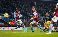 Nathanael Clyne of Southampton levels the score at 1-1 - Football - Barclays Premier League - Aston Villa vs Southampton - Villa Park Birmingham  - Season 2014/2015 - 24th November 2015 - Photo Malcolm Couzens /Sportimage