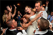 The wedding reception held at The Chandelier at Flanders Valley Golf Course in Flanders, New Jersey.