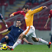 Galatasaray's Lucas NEILL (C) during their Turkish Super League soccer match Galatasaray between Bucaspor at the Turk Telekom Arena at Seyrantepe in Istanbul Turkey on Saturday 19 February 2011. Photo by TURKPIX