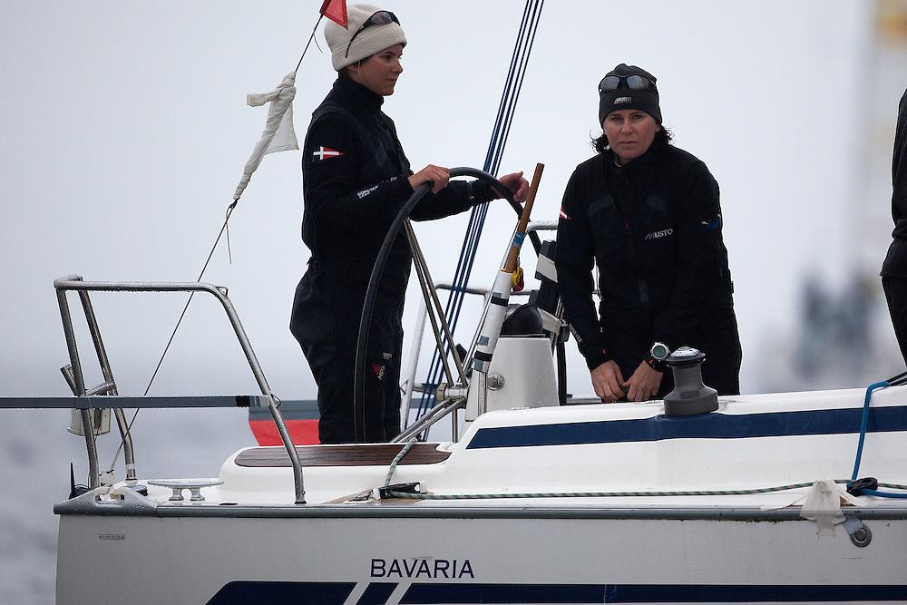 Kathrin Kadelbach (L) and Ulrike Schuemann, Ewe Sailing Team. World Match Race Tour. Match Race Germany. Langenargen, Germany. 20 May 2010. Photo: Gareth Cooke/Subzero Images/WMRT