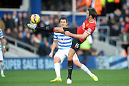 Michael Carrick of Manchester United in action. Barclays Premier league match, Queens Park Rangers v Manchester Utd at Loftus Road in London on Saturday 17th Jan 2015. pic by John Patrick Fletcher, Andrew Orchard sports photography.