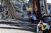 Switzerland, Zurich: street scene along the river