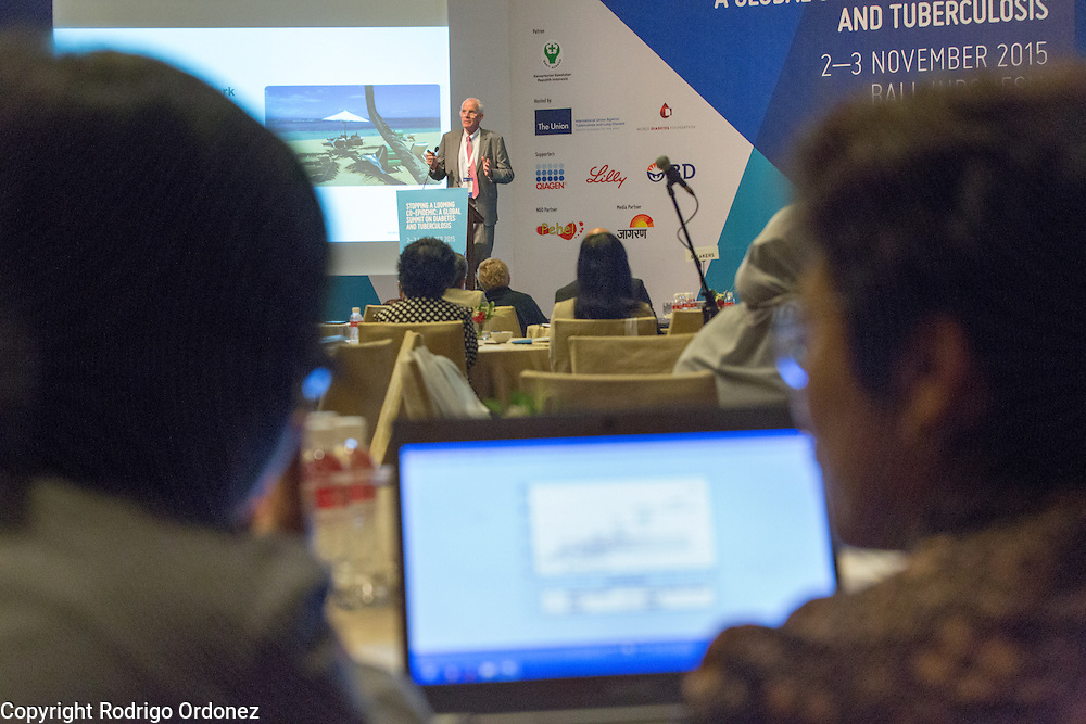 The Managing Director of the World Diabetes Foundation, Dr Anders Dejgaard, speaks at the opening of the global summit on diabetes and tuberculosis in Bali, Indonesia, on November 2, 2015.<br /> The increasing interaction of TB and diabetes is projected to become a major public health issue.The summit gathered a hundred public health officials, leading researchers, civil society representatives and business and technology leaders, who committed to take action to stop this double threat. (Photo: Rodrigo Ordonez for The Union)