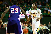 WACO, TX - DECEMBER 18: Taurean Prince #35 of the Baylor Bears brings the ball up court against the Northwestern State Demons on December 18 at the Ferrell Center in Waco, Texas.  (Photo by Cooper Neill/Getty Images) *** Local Caption *** Taurean Prince