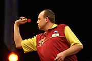Darts: Betfair Team World Cup 2013, Hamburg, 03.02.2013<br /> Kim Huybrechts (BEL<br /> © Torsten Helmke