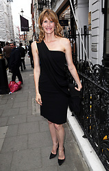 Image licensed to i-Images Picture Agency. 16/06/2014. Actress Laura Dern arriving for the launch of a Gregory Peck exhibition at the Huntsman tailors in Savile Row, London, to celebrate five decades of dressing the Hollywood actor. Picture by Stephen Lock / i-Images