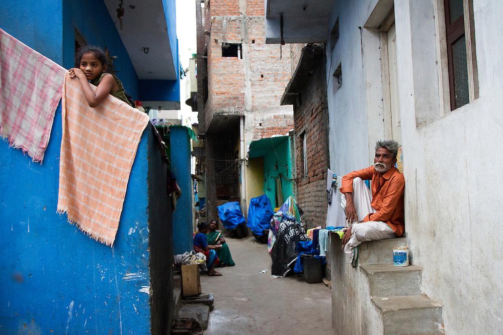 A slum in Saidapet, Chennai, India.