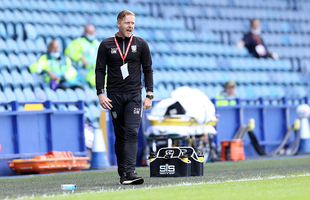 Sheffield Wednesday's manager Garry Monk shouts instructions to his team from the technical area<br /> <br /> Photographer Rich Linley/CameraSport<br /> <br /> The EFL Sky Bet Championship - Sheffield Wednesday v Nottingham Forest - Saturday 20th June 2020 - Hillsborough - Sheffield <br /> <br /> World Copyright © 2020 CameraSport. All rights reserved. 43 Linden Ave. Countesthorpe. Leicester. England. LE8 5PG - Tel: +44 (0) 116 277 4147 - admin@camerasport.com - www.camerasport.com