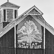 This barn sign reflects a way of life in the region.