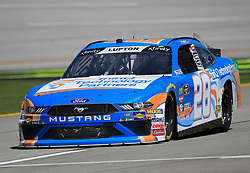 April 27, 2018 - Talladega, AL, U.S. - TALLADEGA, AL - APRIL 27:  Dylan Lupton, JGL Racing, Ford Mustang thinQ Technology Partners during practice for the NASCAR Xfinity Series Sparks 300 race on April 27, 2018, at the Talladega Superspeedway in Talladega, AL.  (Photo by David John Griffin/Icon Sportswire) (Credit Image: © David J. Griffin/Icon SMI via ZUMA Press)