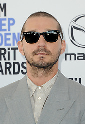 Shia LaBeouf at the 35th Annual Film Independent Spirit Awards held at the Santa Monica Beach in Santa Monica, USA on February 8, 2020.