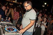 Joe Belock spins at Maxwell's Block Party