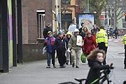 Koninklijke familie arriveert bij de Oosterpoort voor het Koningsdagconcert<br /> <br /> Royal family arrives at the Oosterpoort for the King's Day concert<br /> <br /> Op de foto / On the photo:  Demonstranten bij de Oosterpoort voor het Koningsdagconcert.