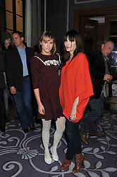 Left to right, SUKI WATERHOUSE and ANNABEL NEILSON at a party hosted by Vauxhall Motors to celebrate their collaboration with menswear designer James Small following his Autumn/Winter 2012 show during London Fashion Week held at Corinthia Hotel, London on 22nd February 2012.