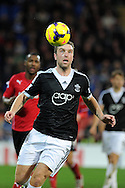 Southampton's Rickie Lambert in action. Barclays Premier league, Cardiff city v Southampton at the Cardiff city Stadium in Cardiff,  South Wales on Boxing day, Thursday 26th Dec 2013. <br /> pic by Andrew Orchard, Andrew Orchard sports photography.