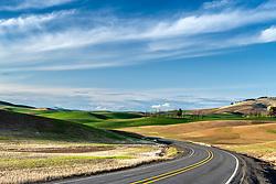Entering Idaho's Palouse Region. The Palouse is a prodigious farming region that resides on both sides of the Idaho and Washington border.