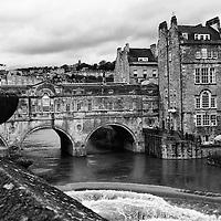 Pulteney Bridge over the Avon River, Bath, England